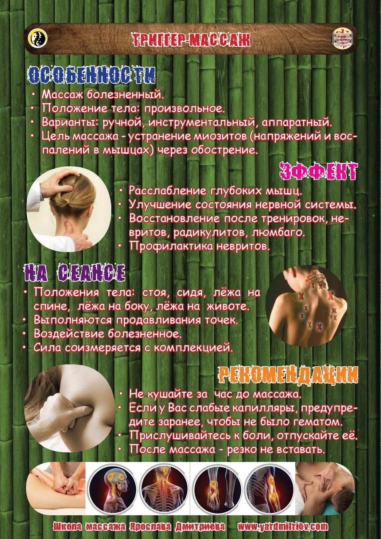 Точечный массаж (триггер-массаж)